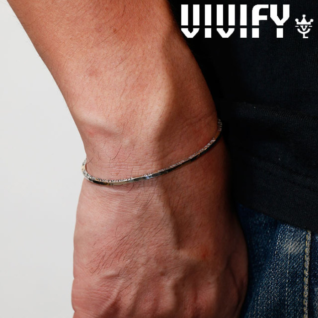 VIVIFY(ヴィヴィファイ)(ビビファイ) SideArabesque Bangle w/gold 【VIVIFY バングル】【VFB-158】【メンズ レディース 女性用】