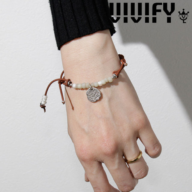 VIVIFY(ヴィヴィファイ)(ビビファイ) Old Coin Nubuck Cord Bracelet 【VIVIFY ブレスレット】【VFB-163】【レディース 女性用】【
