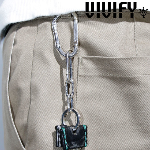 VIVIFY(ヴィヴィファイ)(ビビファイ) k18Gold Rope Inlay Arabesque karabiner Keychain 【VIVIFY カラビナ】【VFO-116】【オーダ