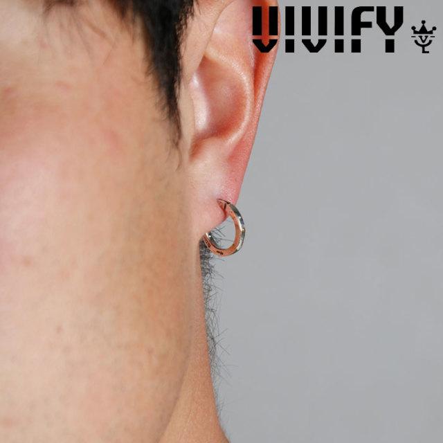 VIVIFY(ヴィヴィファイ)(ビビファイ) SquareLine Hoop Pierce(S) w/gold 【VIVIFY ピアス】【VFP-249】【オーダーメイド ハンドメ