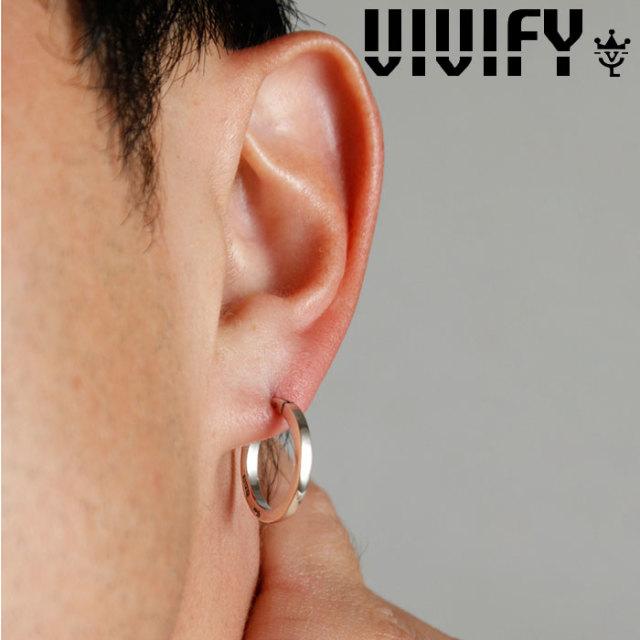 VIVIFY(ヴィヴィファイ)(ビビファイ) K18goldpost SquareLine Hoop Pierce 【VIVIFY ピアス】【VFP-252】【オーダーメイド ハンド