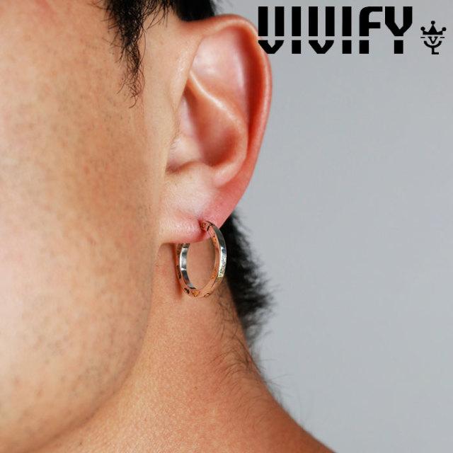 VIVIFY(ヴィヴィファイ)(ビビファイ) K18goldpost SquareLine Hoop Pierce w/gold 【VIVIFY ピアス】【VFP-254】【オーダーメイド