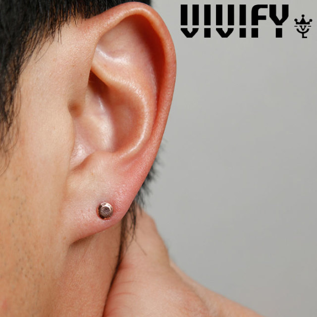 VIVIFY(ヴィヴィファイ)(ビビファイ) Round Cut k10stone pierce 【VIVIFY ピアス】【VFP-258】【オーダーメイド ハンドメイド 受