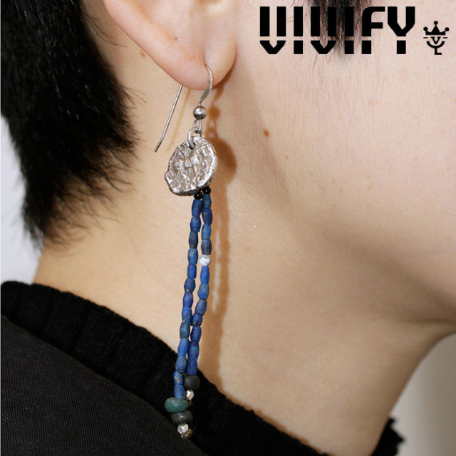 VIVIFY(ヴィヴィファイ)(ビビファイ) Ancient Coin Ranged Stone Pierce(silver) 【VIVIFY ピアス】【VFPL-004】【レディース 女性