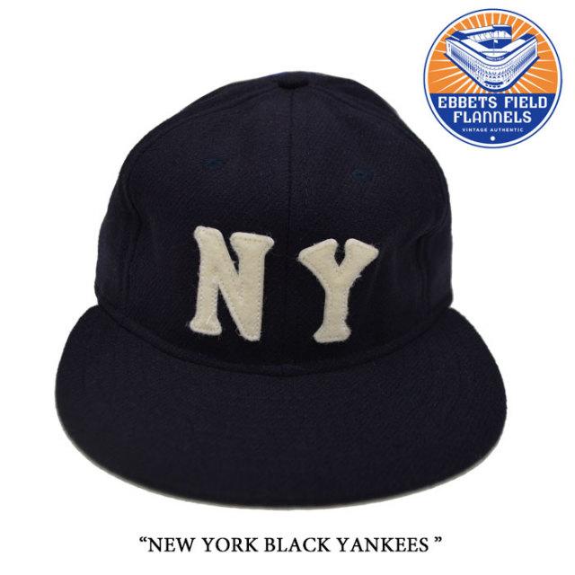 EBBETS FIELD FLANNELS(エベッツフィールドフランネルズ) NEW YORK BLACK YANKEES 1936 【EBBETS FIELD FLANNELS ウールキャップ】
