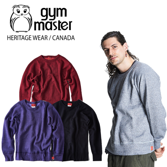 gym master(ジムマスター)(CANADA) Raglan sweat trainer 【スウェット】【made in CANADA】【即発送可能】