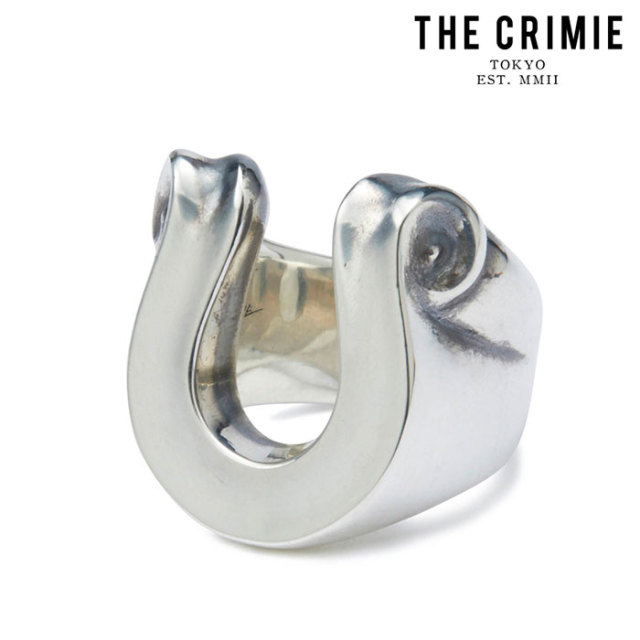 """CRIMIE(クライミー) LETTER RIBBON HORSE SHOE RING LARGE 【""""THE"""" SERIES COLLECTION 先行予約】【定番商品】【キャンセル不可】"""