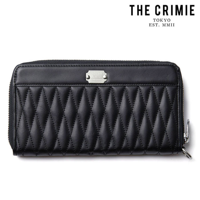 "CRIMIE(クライミー) DIAMOND QUILT ZIP LONG WALLET 【""THE"" SERIES COLLECTION 先行予約】【定番商品】【キャンセル不可】【CRA1-"