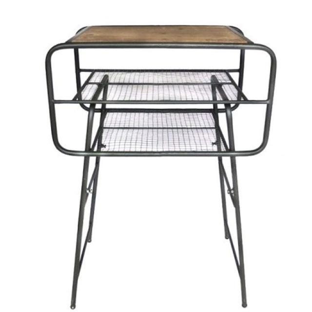 【予約商品】 Iron side table 【キャンセル不可】【GG06】 【ミリタリー調】【インダストリアル】【テーブル】