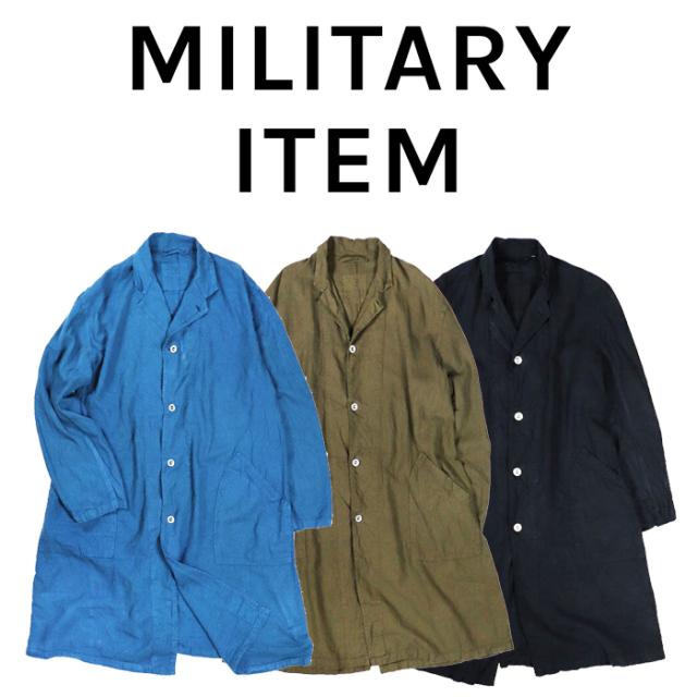 OUTPUT MilitaryApparel French Type Linen Coat 【ミリタリー コート】【キャンセル 返品 交換不可】