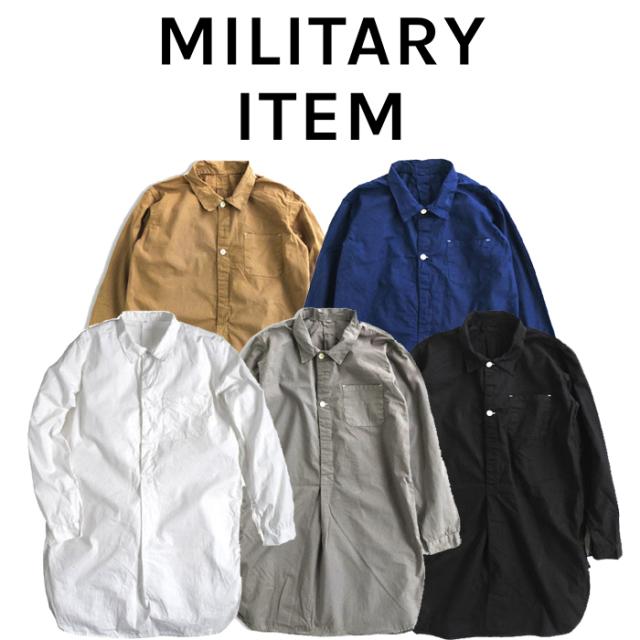 OUTPUT MilitaryApparel Sweden Type Grandpa Shirt 【ミリタリー シャツ 長袖】【キャンセル 返品 交換不可】