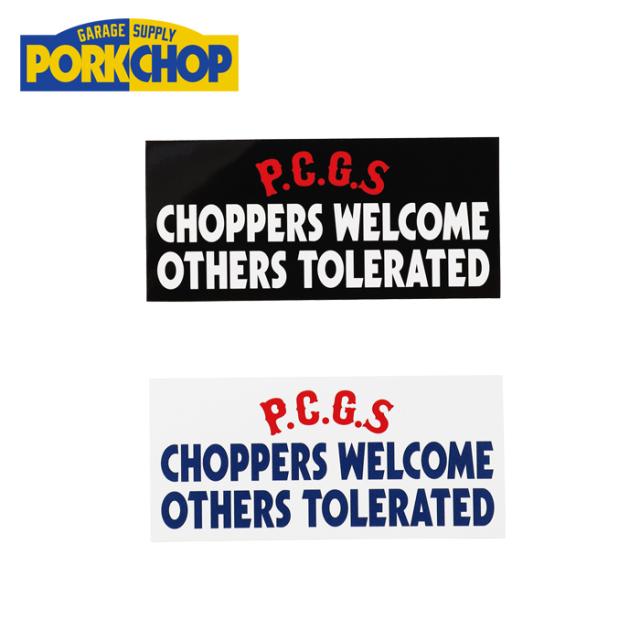 PORKCHOP GARAGE SUPPLY(ポークチョップ ガレージサプライ) CHOPPERS WELCOME STICKER 【ステッカー シール】