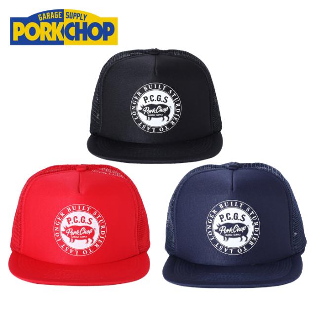 PORKCHOP GARAGE SUPPLY(ポークチョップ ガレージサプライ) CIRCLE PORK CAP 【メッシュキャップ】【帽子】