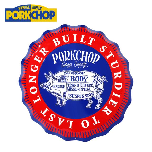 PORKCHOP GARAGE SUPPLY (ポークチョップ ガレージサプライ)  CROWN METAL SIGN 【看板 サインボード】【サインプレート アメリカ