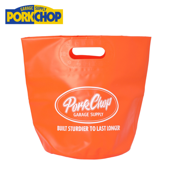 PORKCHOP GARAGE SUPPLY(ポークチョップ ガレージサプライ) FOLDING BUCKET 【バッグ バケツ 折り畳み 防水】