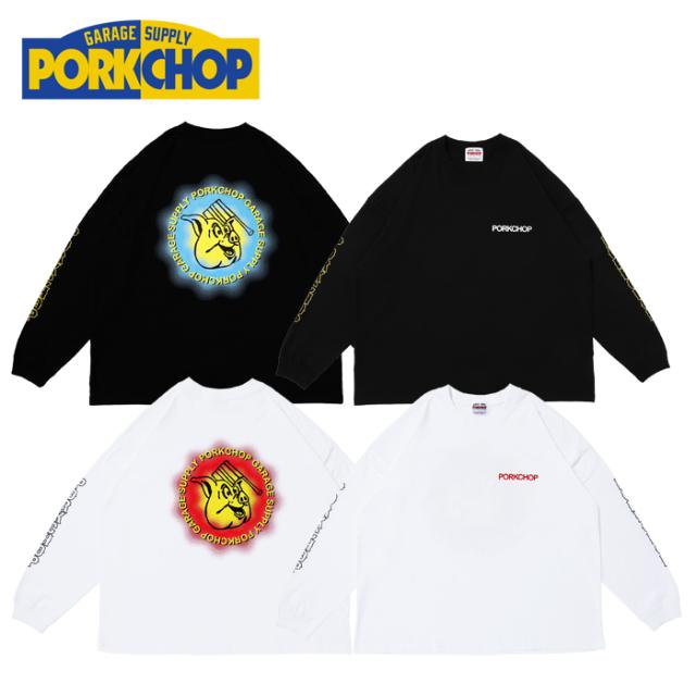 PORKCHOP GARAGE SUPPLY(ポークチョップ ガレージサプライ) OLD PORK L/S TEE 【プリント ロンT 長袖 Tシャツ】