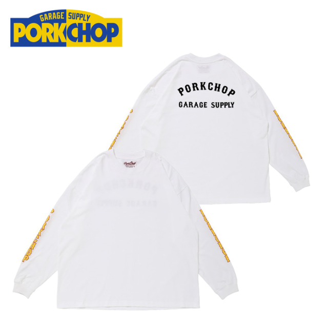 PORKCHOP GARAGE SUPPLY(ポークチョップ ガレージサプライ) P.C.G.S L/S TEE P-19 【プリント Tシャツ 長袖】