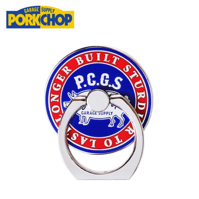 PORKCHOP GARAGE SUPPLY (ポークチョップ ガレージサプライ)  P RING(CIRCLE) 【スマートフォン用ホールドリング】【バンカーリン
