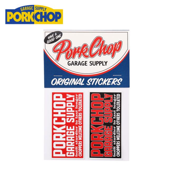 PORKCHOP GARAGE SUPPLY (ポークチョップ ガレージサプライ)  SQUARE STICKER SET 【ステッカーセット シール】【インタープレイ I