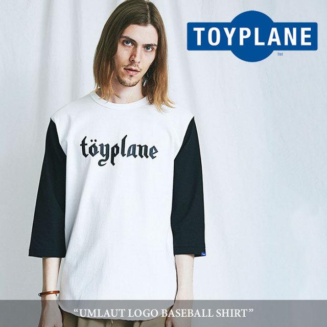 TOYPLANE(トイプレーン) UMLAUT LOGO BASEBALL SHIRT 【2018SUMMER/FALL先行予約】 【キャンセル不可】 【TOYPLANE Tシャツ】