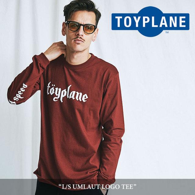 TOYPLANE(トイプレーン) L/S UMLAUT LOGO TEE 【2018SUMMER/FALL先行予約】 【キャンセル不可】 【TOYPLANE Tシャツ】 【TP18-N