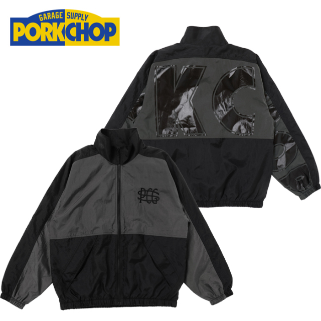 PORKCHOP GARAGE SUPPLY(ポークチョップ ガレージサプライ) TRACK JKT 【トラックジャケット ブラック チャコール アウター】