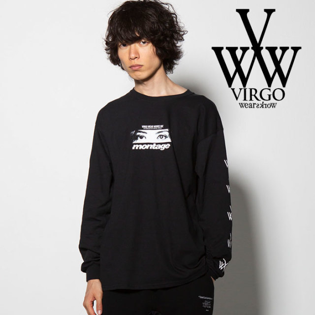 VIRGO(ヴァルゴ) montage x VIRGOwearworks L/S 【2018FALL/WINTER新作】【VG-CB-74】 【コラボ ロンT】