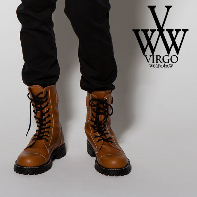 VIRGO ヴァルゴ バルゴ MILITARIA BEHIND ZIP SPECIAL BOOTS 【2018FALL/WINTER新作】 【VG-GD-557】【ブーツ】