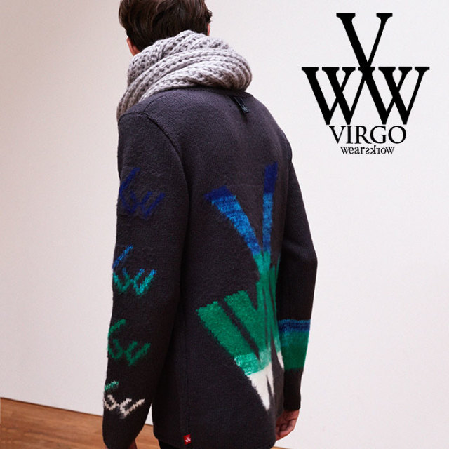 【SALE30%OFF】 VIRGO(ヴァルゴ) CRAZY V KNIT 【2018FALL/WINTER新作】 【VG-KNIT-72】【ニット セーター】