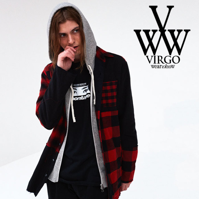 VIRGO(ヴァルゴ) CONFUSION CHECK MIDDLE SHIRTS 【2018FALL/WINTER先行予約】 【VG-SH-190】【キャンセル不可】