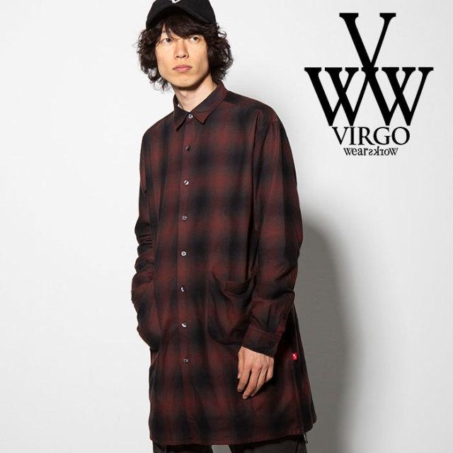 VIRGO(ヴァルゴ) BLEARY LONG SHIRTS 【2018FALL/WINTER先行予約】 【VG-SH-192】【キャンセル不可】 【送料無料】