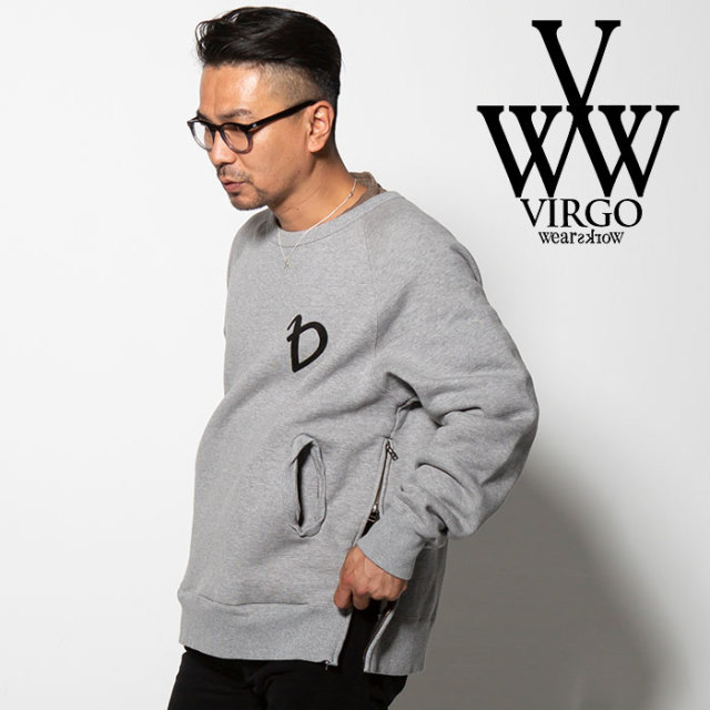 VIRGO(ヴァルゴ) SPECIAL SIDE ZIP SWT 【2018FALL/WINTER新作】 【VG-SWT-108】【サイドジップ スウェット】