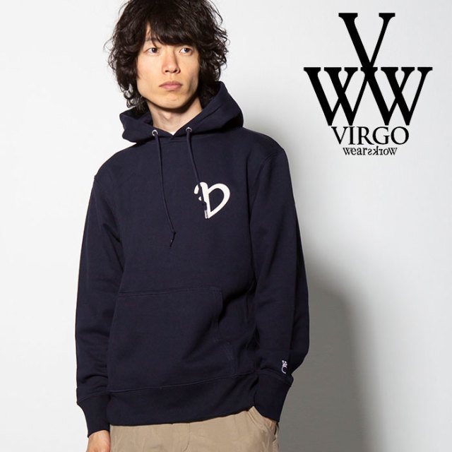 "VIRGO(ヴァルゴ) LOOSE ""V"" HEAVY PARKA 【2018FALL/WINTER新作】 【VG-SWT-110】【パーカー】"