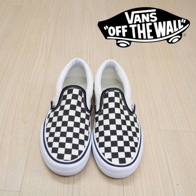 【VANS(バンズ)】 SLIP-ON PRO (CHECKER BORD)BLACK/WHITE 【VANS スニーカー】【スリッポン】【VN0A347VAPK】