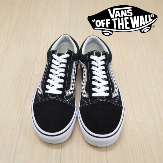 【VANS(バンズ)】 OLD SKOOL (SIDESTRIPE V) BLACK/TRUE WHITE 【VANS スニーカー】【オールドスクール】【VN0A38G1UJJ】