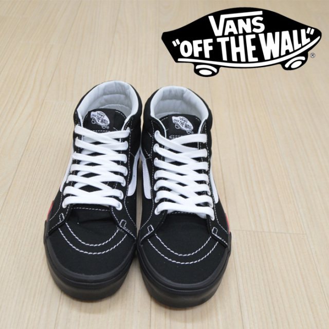 【VANS(バンズ)】 SK8-MID REISSUE (FLAME CUT OUT) BLACK/TRUE WHITE 【VANS スニーカー】【スケハイ ミッド】【VN0A3MV8UQZ】