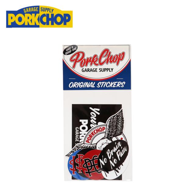 PORKCHOP GARAGE SUPPLY(ポークチョップ ガレージサプライ) WING PORK STICKER SET 【ステッカー シール】