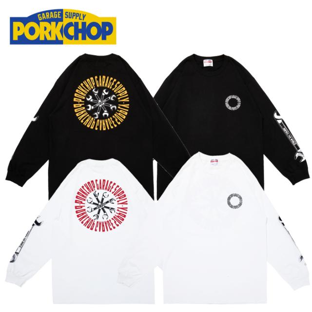 PORKCHOP GARAGE SUPPLY(ポークチョップ ガレージサプライ) Wrench L/S TEE 【プリント ロンT 長袖 Tシャツ】