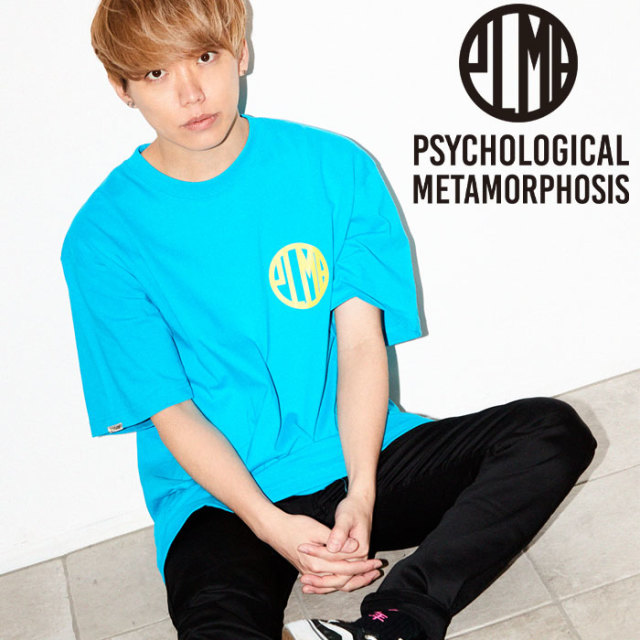 PSYCHOLOGICAL METAMORPHOSIS PLMP MARK TEE 【PSYCHOLOGICAL METAMORPHOSIS  3rd collection新作】【PL18-0104】 【image model
