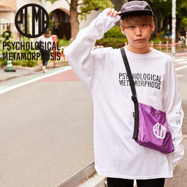 PSYCHOLOGICAL METAMORPHOSIS PLMP L/S LOGO2 【PSYCHOLOGICAL METAMORPHOSIS  3rd collection先行予約】 【キャンセル不可】 【