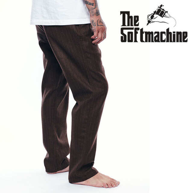 SOFTMACHINE(ソフトマシーン) BIVOUAC WOOL PANTS 【ウール パンツ】【ブラック ブラウン タトゥー】【2020AUTUMN&WINTER先行予約