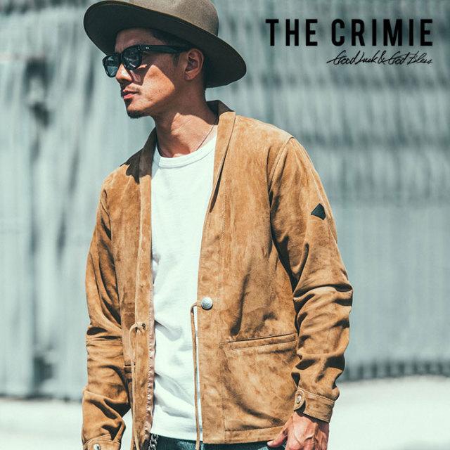 【SALE30%OFF】 CRIMIE(クライミー) SUEDE LEATHER CARDIGAN 【2019SPRING/SUMMER新作】【送料無料】 【C1K1-JK10】【スウェード