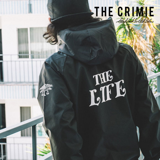 CRIMIE(クライミー) HOOD COACHES THE LIFE JACKET 【2019SPRING/SUMMER新作】 【C1K1-JK21】【コーチジャケット】