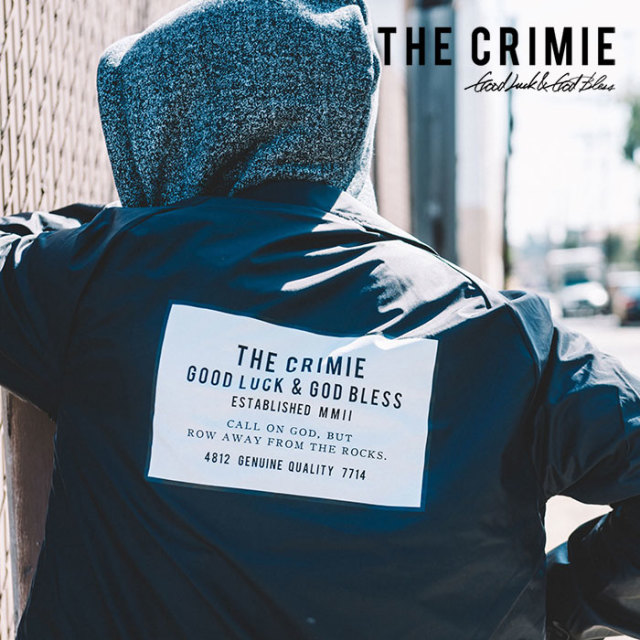 CRIMIE(クライミー) COACHES BOX LOGO JACKET 【2019SPRING/SUMMER新作】 【C1K1-JK24】【コーチジャケット】