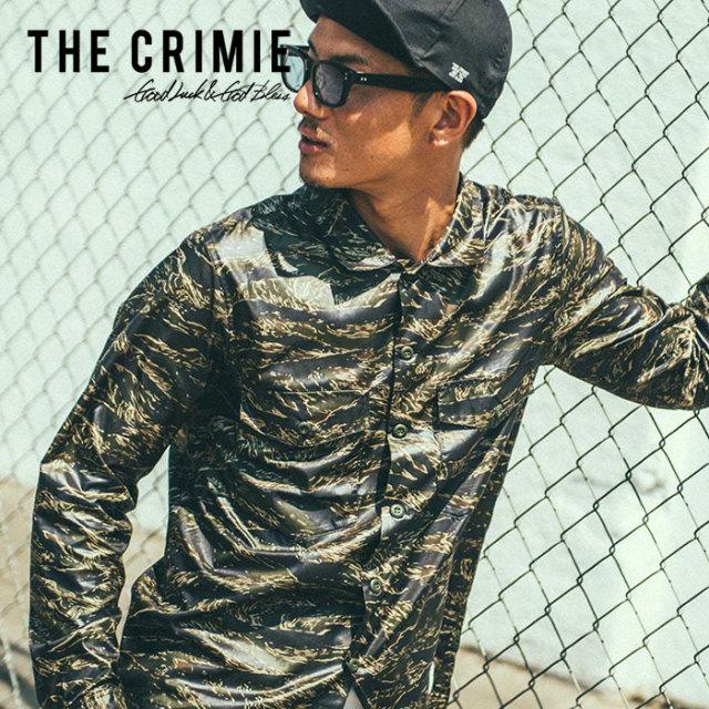 CRIMIE(クライミー) TIGER CAMO MILITARY SHIRT 【2019SPRING/SUMMER先行予約】 【キャンセル不可】【C1K1-SH02】【ミリタリー シ