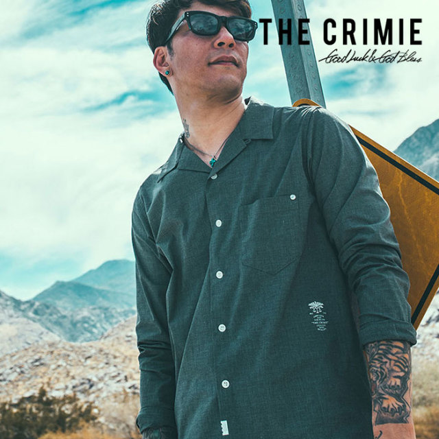 CRIMIE(クライミー) OPEN STRETCH TC SHIRT 【2019SPRING/SUMMER先行予約】 【キャンセル不可】【C1K1-SH05】【ストレッチ シャツ