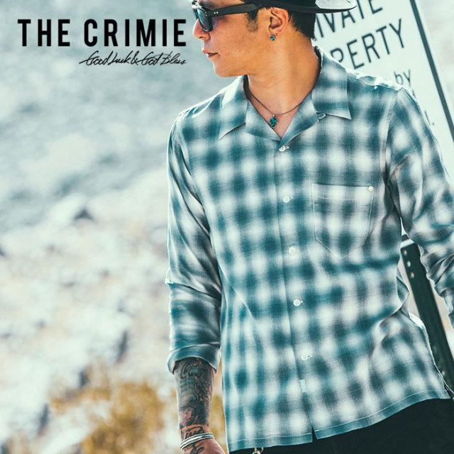 CRIMIE(クライミー) OPEN RAYON LONG CHECK SHIRT 【2019SPRING/SUMMER先行予約】 【キャンセル不可】【C1K1-SH06】【チェック シ
