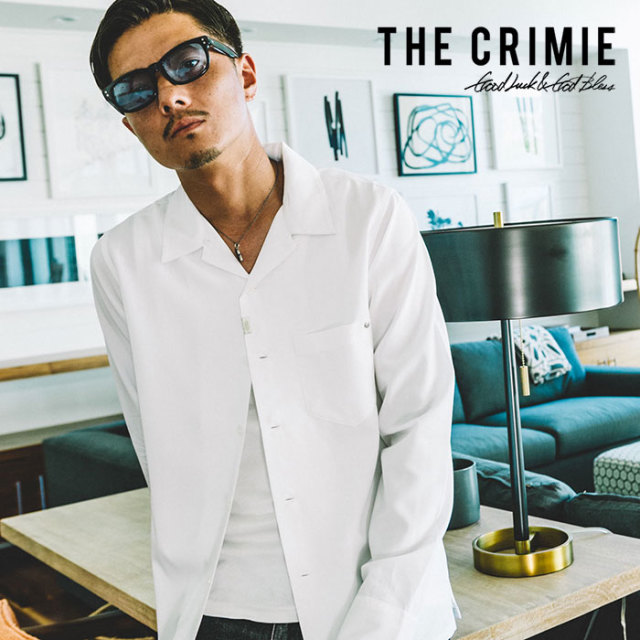 CRIMIE(クライミー) WASHABLE RAYON OPEN LONG SHIRT 【2019SPRING/SUMMER先行予約】 【キャンセル不可】【C1K1-SH08】【シャツ】