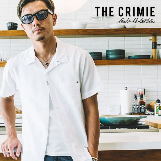 CRIMIE(クライミー) WASHABLE RAYON OPEN SHORT SHIRT 【2019SPRING/SUMMER先行予約】 【キャンセル不可】【C1K1-SH09】【シャツ