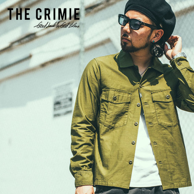 CRIMIE(クライミー) JOE MILITARY SHIRT 【2019SPRING/SUMMER先行予約】 【キャンセル不可】【C1K1-SH10】【ミリタリー シャツ】